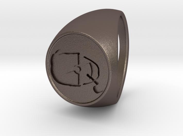 Custom Signet Ring 46 3d printed
