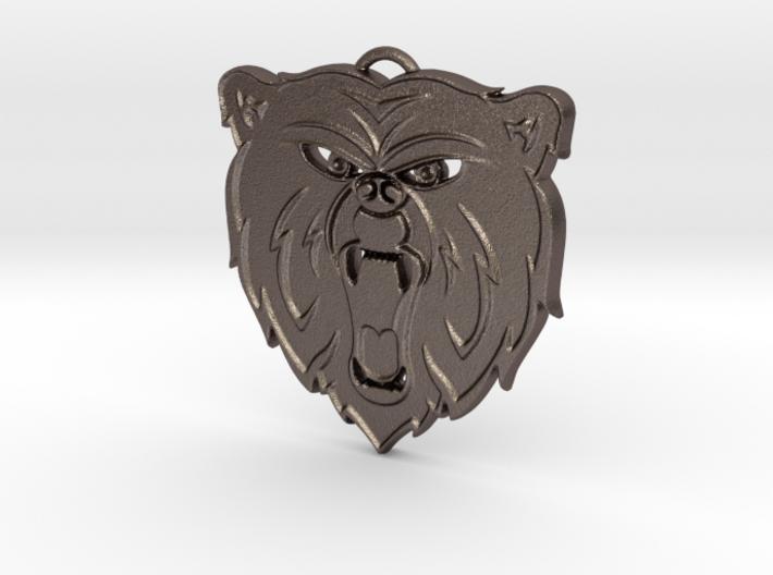 Angry Bear Cartoon Pendant Charm 3d printed
