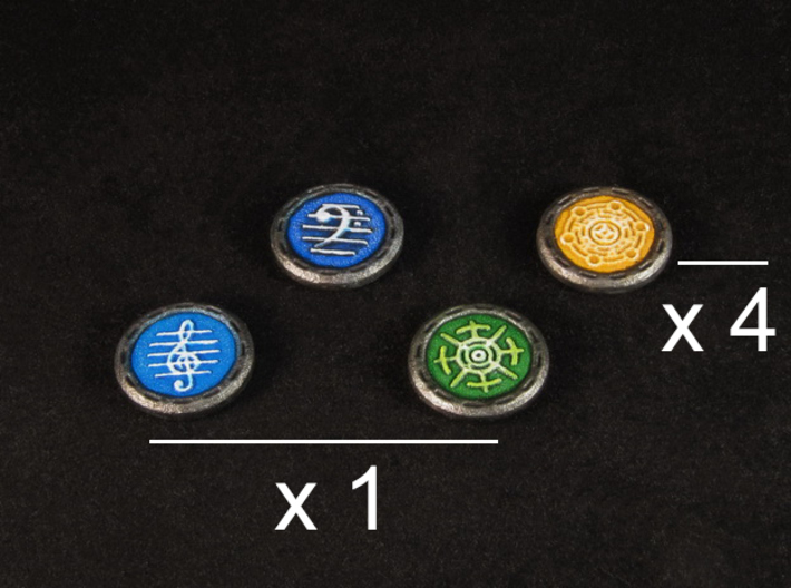 Descent Image, Song, Tracking tokens (7 pcs) 3d printed White Strong Flexible, painted.