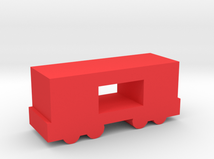 Game Piece, Freight Train Box Car, Open 3d printed