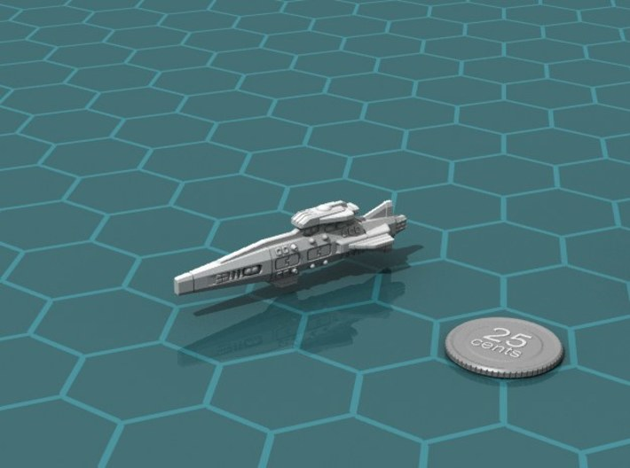 Ikennek Light Cruiser 3d printed Render of the model, with a virtual quarter for scale.