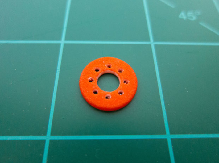 "Bussard Dome Assembly - 1:1000 - 02 3d printed Printed part in ""Strong and Flexible"" orange polished plastic."