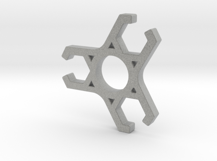 Skeletonized tri claw fidget spinner 3d printed