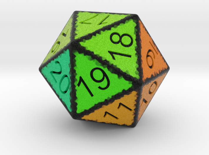 20 Sided Count Down Dice 3d printed