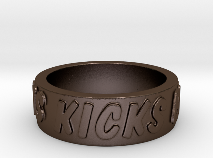 Squirrel Girl Motto Ring Size 12 3d printed