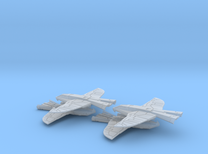 War Hawk Fighter, 4-pack 3d printed
