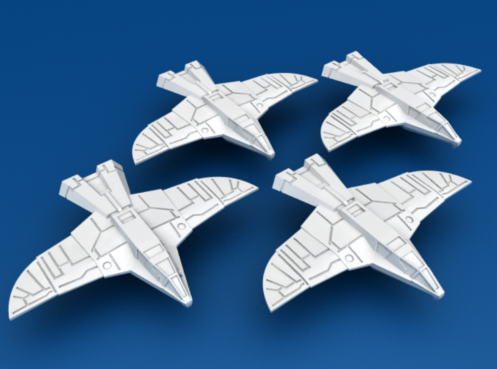 War Hawk Fighter, 4-pack 3d printed 4-Pack of War Hawk Fighters!