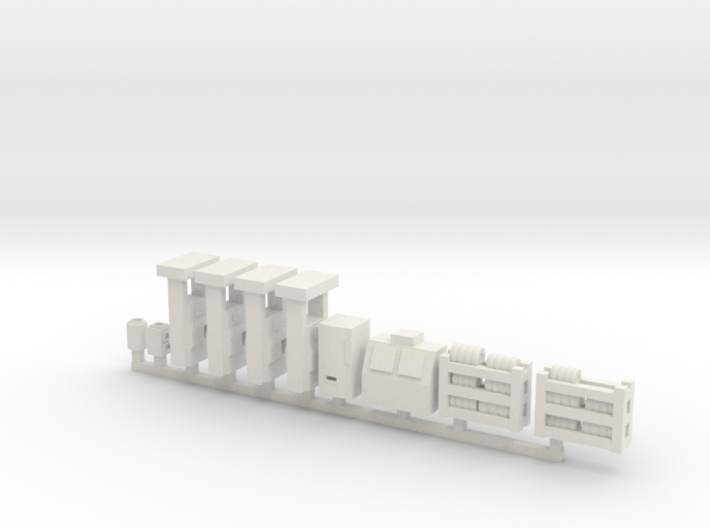 Modern Gas Station Accessories - Sscale 3d printed