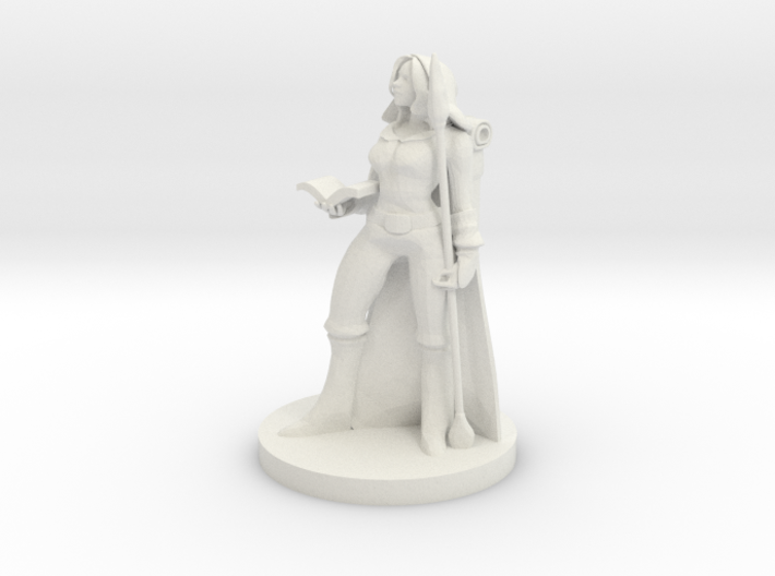 Female Human Wizard 3d printed