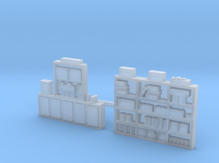 Workshelving Set #4, Super detailed....Loaded...N 3d printed