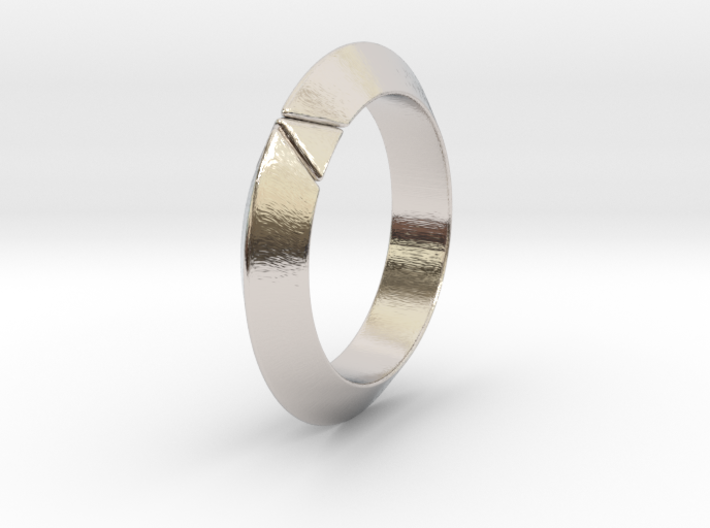 Cleo - Deltamond Ring 3d printed