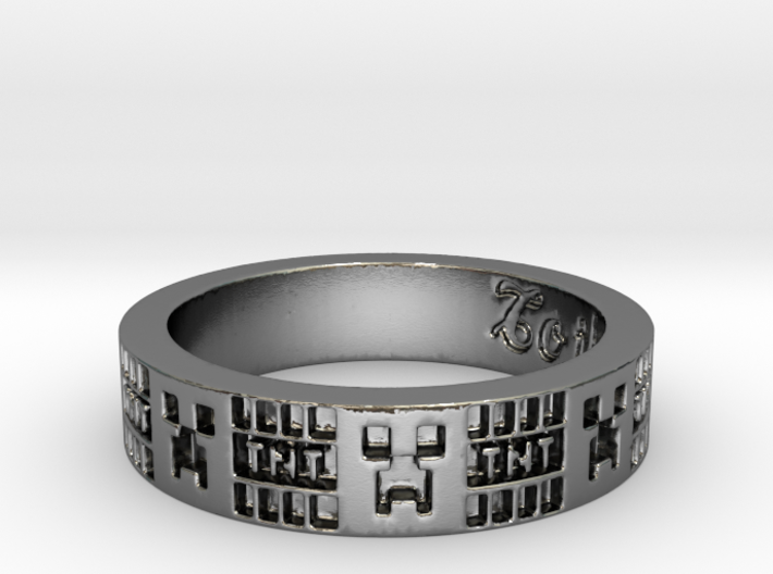 Creeper Ring 3d printed
