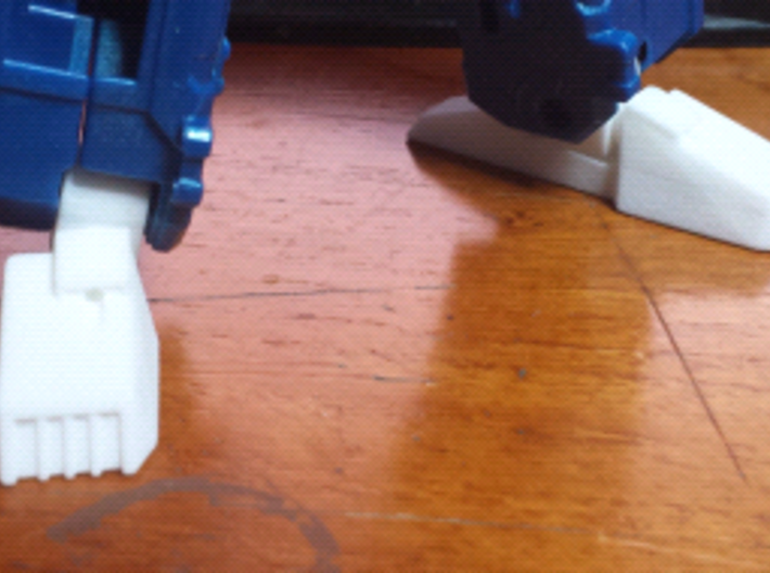 Classics Truck Leader Feet and Ankles (Tall) 3d printed Printed in WSF Polished