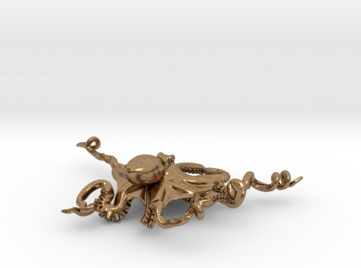 Octopus Pendant 3d printed