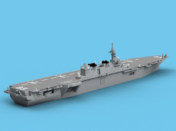 1/1800 JS Izumo 3d printed Computer software render.The actual model is not full color.