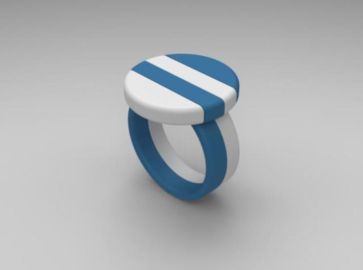 twin-puzzle-ring 3d printed Description