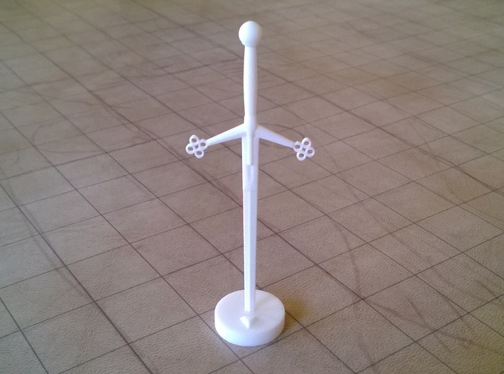 Role Playing Counter: Claymore 3d printed Claymore in Strong & Flexible Plastic (Polished White)