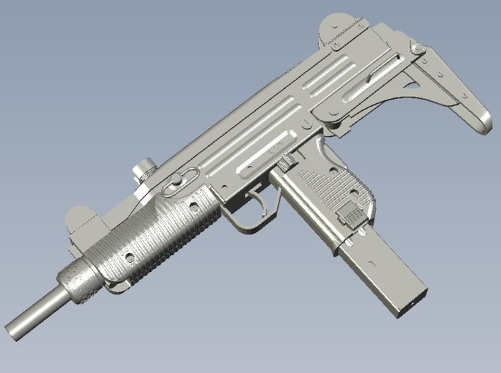 1/25 scale IMI Uzi submachinegun x 1 3d printed