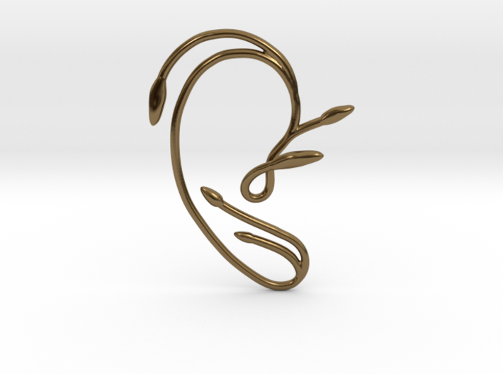 Ear Cuff of Belle (Right Ear) 3d printed