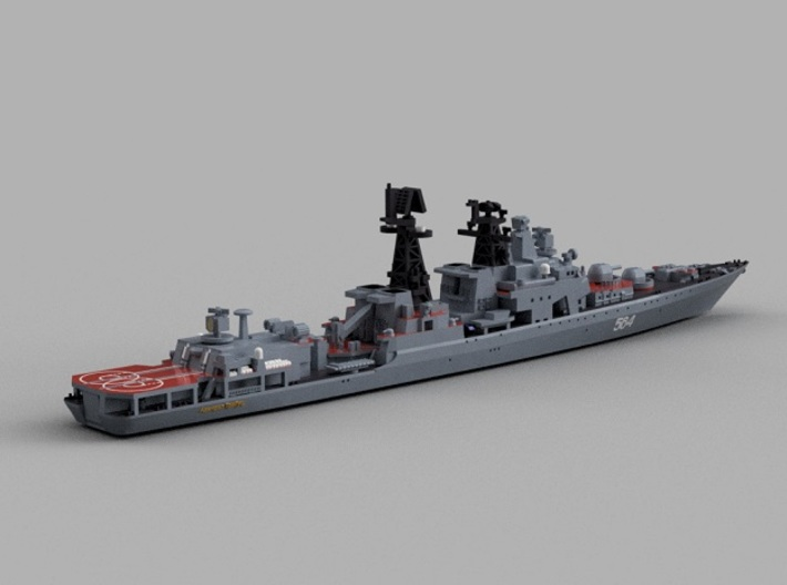 1/1800 RFS Admiral Tributs 3d printed Computer software render.The actual model is not full color.