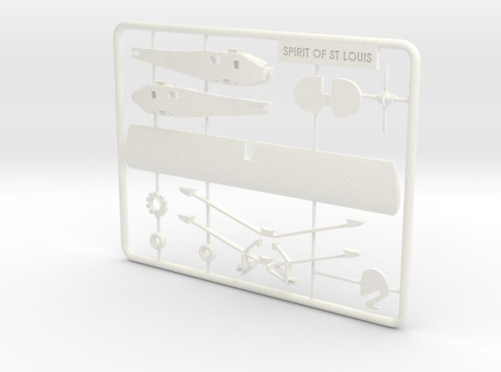 Spirit of St. Louis Puzzle Model 3d printed
