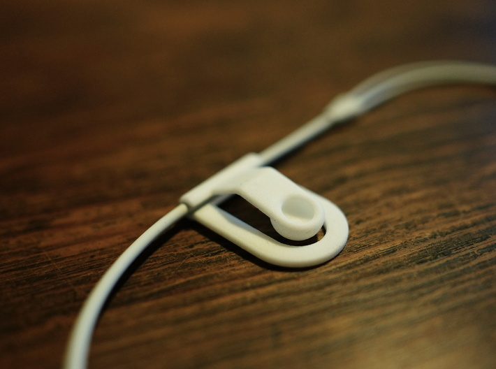 Headphone cable clip 3d printed Cable clip