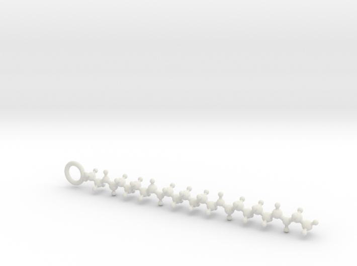 Nylon (Polyamide) 6,6 molecule 3d printed