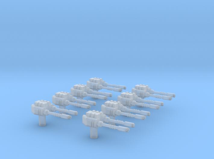 Laser turret 8pack 3d printed