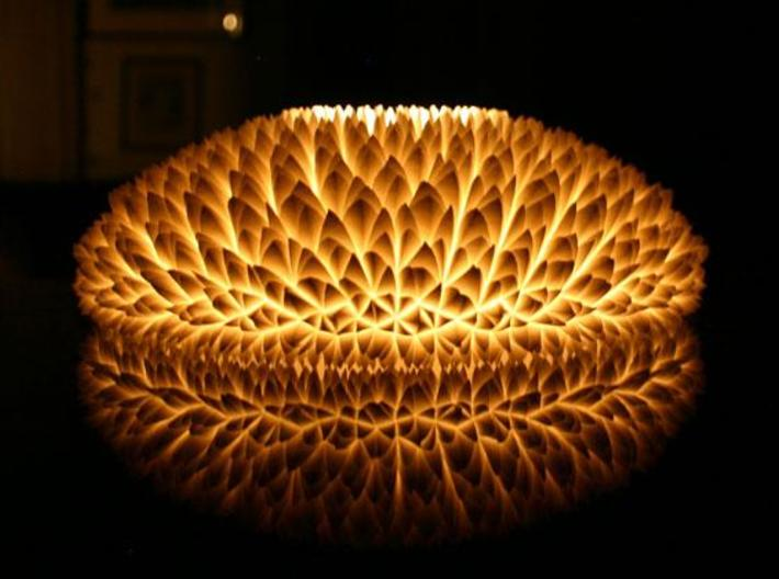 The Chrysanthemum Centrepiece 3d printed The Chrysanthemum centrepiece lit with a  LED tealight