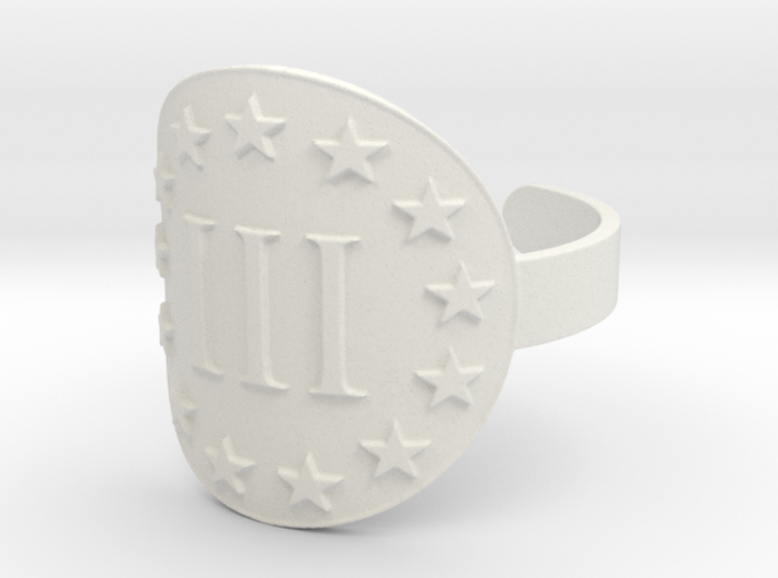 AP III% 3 Percenter Ring Size 10 3d printed