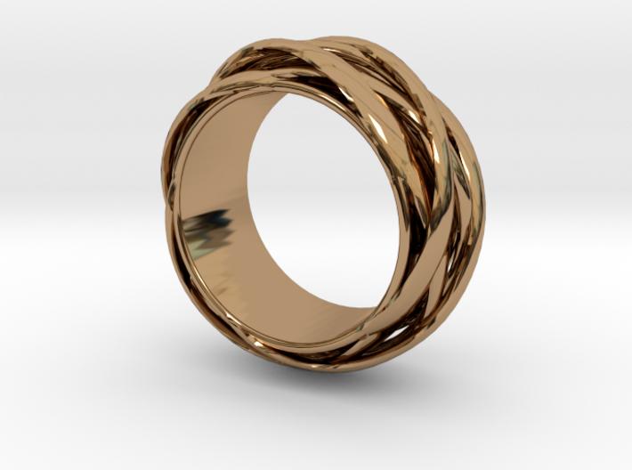 Knots Band Ring 3d printed