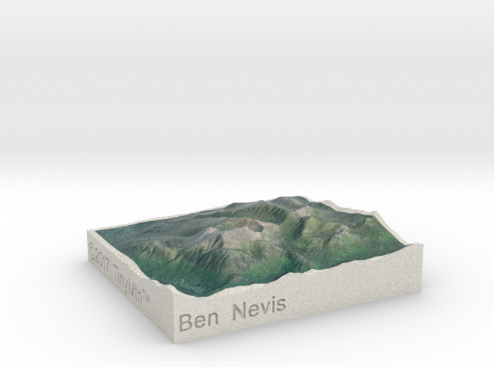 Ben Nevis, Scotland, UK, 1:250000 3d printed
