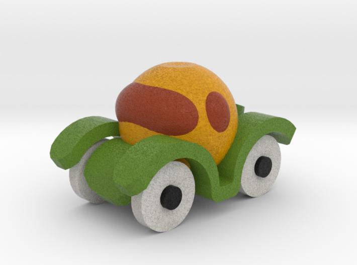 Orange Car 3d printed