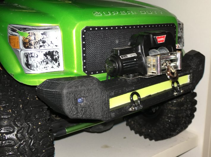 F250 Bumper for Axial SCX10 3d printed Not printed from Shapeways!