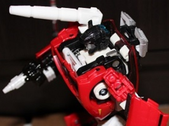 Transformers Sideswipe/Red Alert Shoulder Cannon 3d printed The cannon can elevate