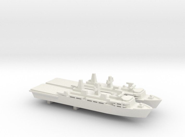 Albion-class LPD x 2, 1/2400 3d printed