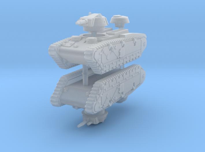 1/285 Grosstraktor (x2) 3d printed