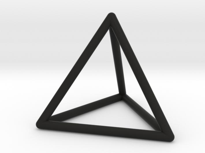 Tetrahedron Pendant 3d printed