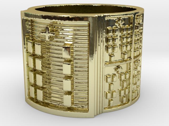 OGBEYEKUN Ring Size 13.5 3d printed