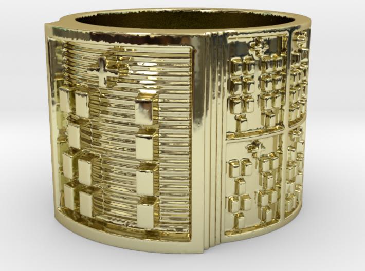 OGBEKA Ring Size 13.5 3d printed
