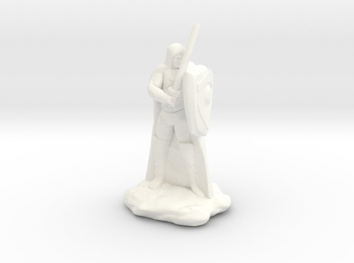 Human Ranger with Sword and Shield 3d printed