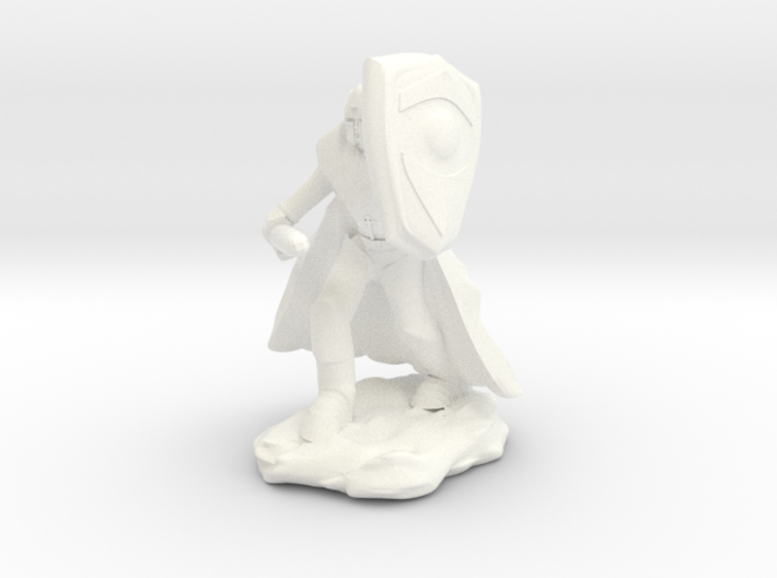 Human Paladin in Plate with Sword and Shield 3d printed