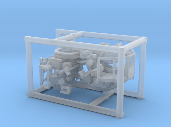 2 X 1/192 40mm Bofors Twin Mount 3d printed
