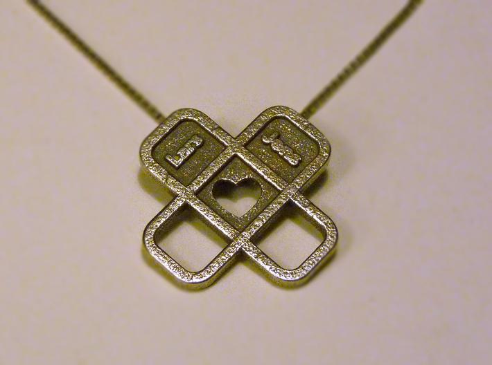 Heart Name Pendant 3d printed heart pendant1