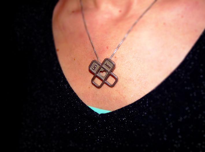 Heart Name Pendant 3d printed heart pendant3
