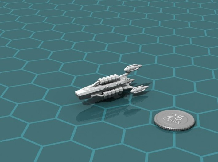G'jhekk Forager 3d printed Render of the model, with a virtual quarter for scale.