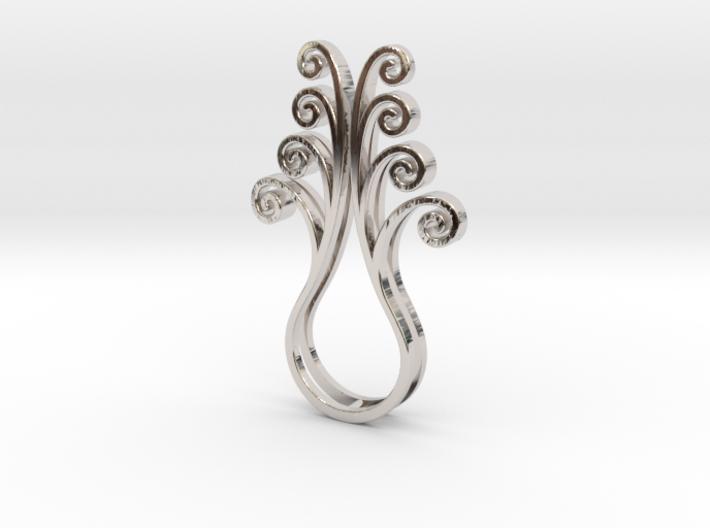 Octopus Meanders - Pendant 3d printed