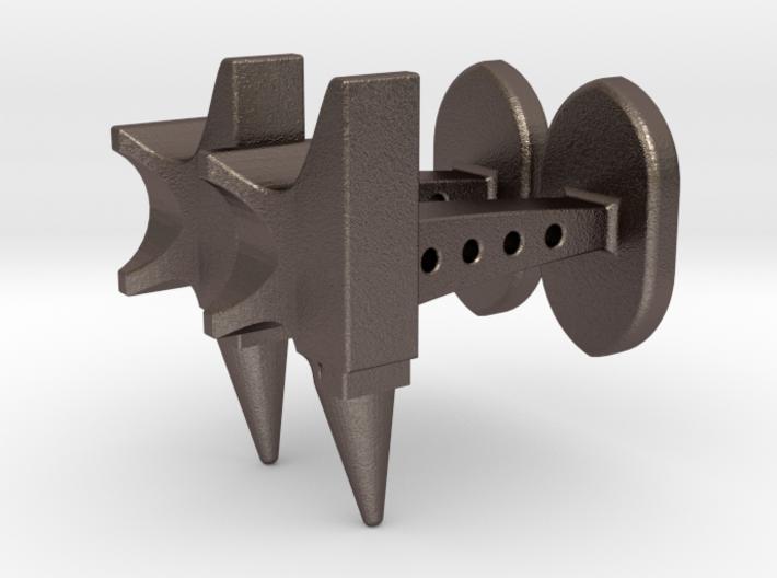 Anvil cufflinks 3d printed