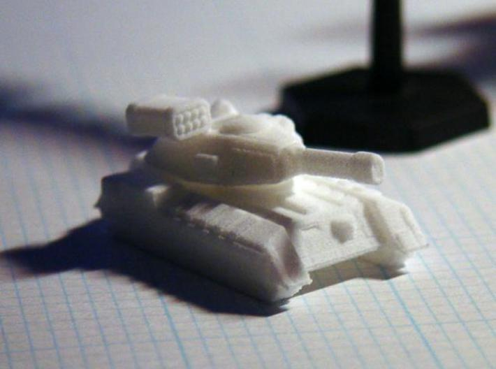 Terran Main Battle Tank 3d printed Terran MBT printed in White, Strong & Flexible.