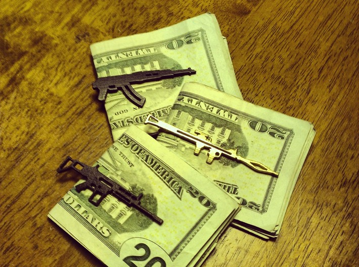 SCAR17 MONEY/TIE CLIP 3d printed